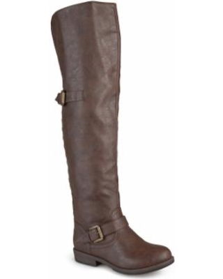 Journee Collection Kane Women's Tall Boots, Girl's, Size: 8 Wc, Brown