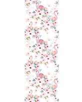 "Bay Isle Home Wilkes Removable Flamigos Peony Nursery 8.33' L x 25"" W Peel and Stick Wallpaper Roll CG293937"