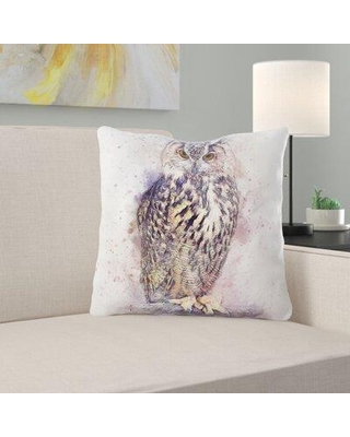 Ebern Designs Ketcham Bird Throw Pillow X111655334 Cover Material: Synthetic Location: Outdoor