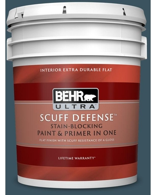 BEHR ULTRA 5 gal. #520F-7 Kingfisher Extra Durable Flat Interior Paint & Primer