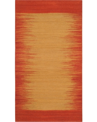 3'X5' Tribal Design Woven Accent Rug Rust (Red) - Safavieh