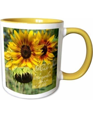 Symple Stuff Ismail Make a Garden out of Life Sunflowers Inspirational Quotes Coffee Mug X111433392
