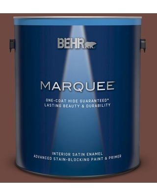 BEHR MARQUEE 1 gal. #PMD-108 Double Chocolate Satin Enamel Interior Paint and Primer in One