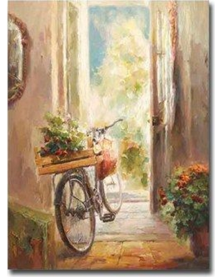 Fleur De Lis Living 'Afternoon Ride' Acrylic Painting Print on Canvas BF117308