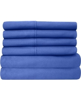 Sweet Home Collection Microfiber Sheet Set 6PC- Size: California King, Color: Royal Blue