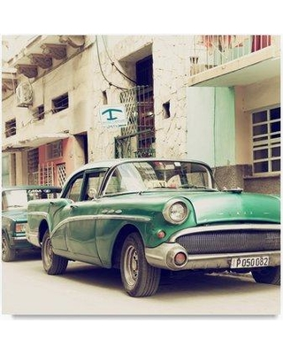 "Trademark Art 'Cuban Taxi to Havana' Photographic Print on Wrapped Canvas PH01009-C Size: 24"" H x 24"" W"