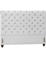 Chesterfield Upholstered Headboard, King, Performance Twill Warm White
