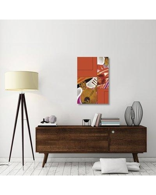 """East Urban Home 'Japanese Instrument Player 1931' Graphic Art Print on Canvas ESUH2066 Size: 36"""" H x 24"""" W x 1.5"""" D"""