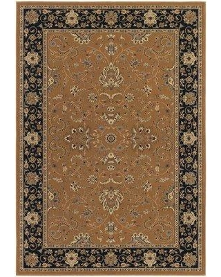 "Astoria Grand Belcourt Floral Brown Area Rug ASTG8225 Rug Size: Rectangle 9'2"" x 12'6"""