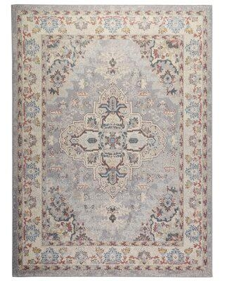 """Canora Grey Finkbeiner Oriental Gray Area Rug X113474505 Rug Size: Rectangle 7'10"""" x 10'2"""""""