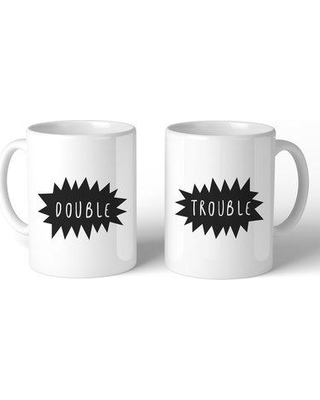 Ebern Designs Hendrick Double Trouble BFF 2 Piece Coffee Mug Set BF112916