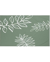 """e by design My Best Frond Floral Print Throw Blanket HFN190 Size: 60"""" L x 50"""" W, Color: Herb Green (Green/Off White)"""