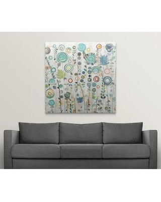 "Great Big Canvas 'Ocean Garden I Square' Candra Boggs Graphic Art Print 2003625_1 Size: 48"" H x 48"" W x 1.5"" D Format: Canvas"