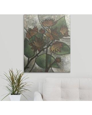 """Great Big Canvas 'Chloe's Flowers II' Megan Meagher Painting Print 2432810_1_ Size: 48"""" H x 38"""" W x 1.5"""" D Format: Canvas"""