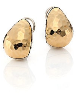 John Hardy Women's Classic Chain Hammered 18K Yellow Gold & Sterling Silver Stud Earrings - Gold