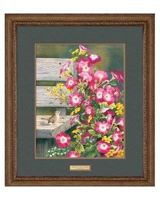 New Deal On Wild Wings Country Garden Wren By Susan Bourdet Framed Painting Print Paper In Brown Pink Yellow Size Medium 25 32 Wayfair F085100047