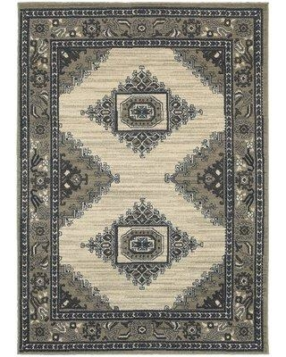 Millwood Pines Darrin Beige Area Rug X111523377 Rug Size: Rectangle 2' x 3'