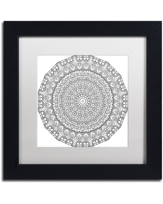 "Trademark Fine Art ""Hearts Mandala"" Canvas Art by Kathy G. Ahrens, White Matte, Black Frame"