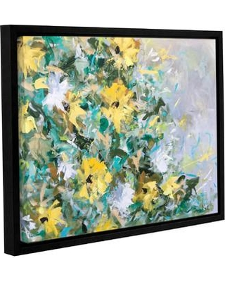 """One Allium Way Sunflowers and Daisies Framed Painting Print on Wrapped Canvas OAWY5597 Size: 18"""" H x 24"""" W x 2"""" D"""