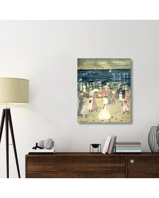 "East Urban Home 'Sunday on the Beach ca. 1896-1898' Print on Wrapped Canvas ERNI8032 Size: 36"" H x 29.9"" W x 1.5"" D"