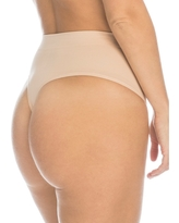Assets by Spanx Women's All Around Smoothers Thong - Nude S