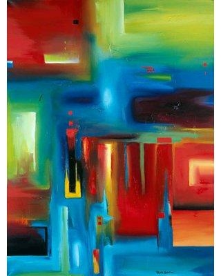 """Orren Ellis 'Abstract' Acrylic Painting Print on Canvas ORNE8099 Size: 32"""" H x 24"""" W"""
