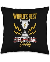 FELLINSH Father's Day Day Shirt Father's Bithday Gift for Best Dad Papa Throw Pillow, 16x16, Multicolor