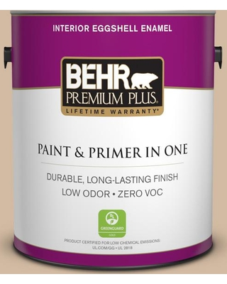 BEHR Premium Plus 1 gal. #N270-3 Coco Eggshell Enamel Low Odor Interior Paint and Primer in One