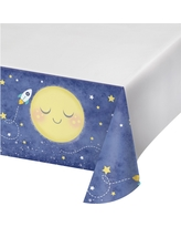 To the Moon and Back Plastic Tablecloth