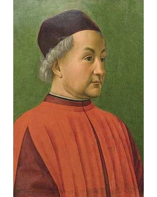 """Buyenlarge 'Portrait of A Man' by Domenico Ghirlandaio Painting Print 0-587-60439-L Size: 42"""" H x 28"""" W x 1.5"""" D"""