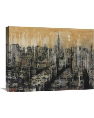 "Global Gallery 'New York City II' by Dario Moschetta Painting Print on Wrapped Canvas GCS-379052 Size: 18"" H x 24"" W x 1.5"" D"