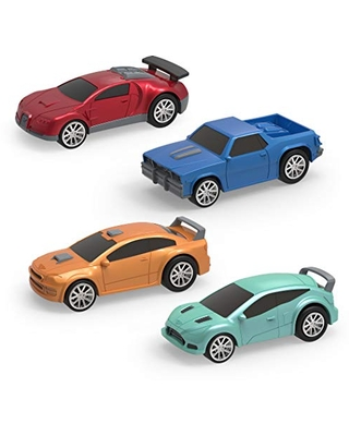 Driven by Battat – Turbocharge Pullback Vehicles – Toy Set with 4 Cars – Race Car Toys and Playsets for Kids Aged 3 and Up