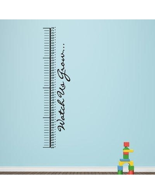 Harriet Bee Watch Us Grow Growth Chart Decal BF204721 Color: Black