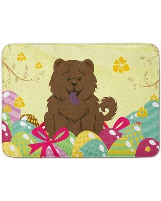 The Holiday Aisle Easter Eggs Chow Chow Memory Foam Bath Rug THLA4277 Color: Chocolate