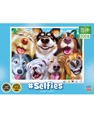 Goofy Grins Selfies - 200 pc - Puzzles for Ages 8 to 12 - Fat Brain Toys