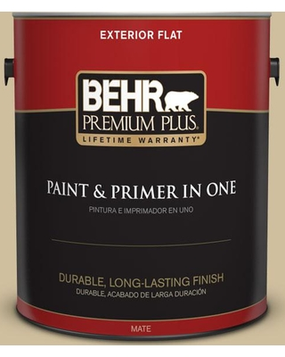 Shop For Behr Premium Plus 1 Gal S320 3 Final Straw Flat Exterior Paint And Primer In One