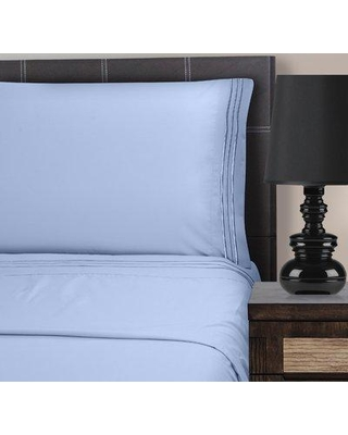 The Twillery Co. Patric Microfiber Solid Color Sheet Set CHMB2074 Size: California King Color: Light Blue