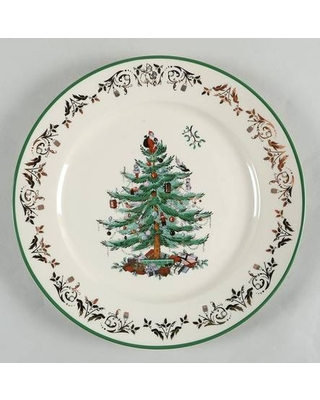"""Spode Christmas Tree Gold Collection 12"""" Chop Plate (Round Platter)"""
