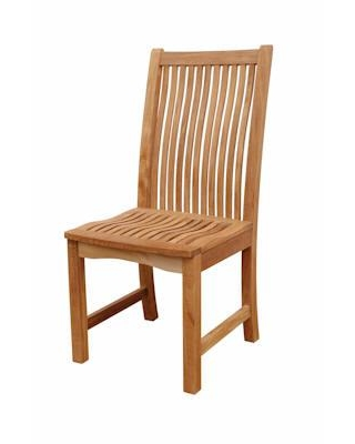 """Chicago CHD-720 18"""" Dining Chair with Teak Wood Construction in Natural"""