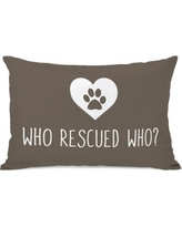 One Bella Casa Who Rescued Who Lumbar Pillow 74621PL42