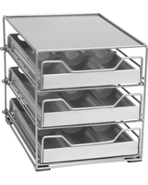 Lipper 3-Tier Tilt Down Spice Drawer, Silver