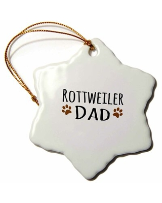 Rottweiler Dog Dad Snowflake Holiday Shaped Ornament The Holiday Aisle®