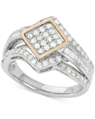 Wrapped in Love Diamond Ring (1 ct. t.w.) in 14k Gold and Sterling Silver, Created for Macy's