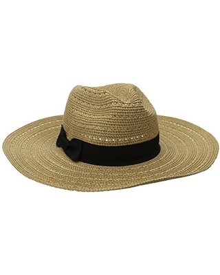 San Diego Hat Company Women's 4-inch Brim Ultrabraid Panama Sun Hat with Gold Yarns Woven in, Natural, One Size