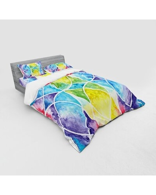 of Egyptian Surrounding Partial Circular Arcs with Motley Effects Duvet Cover Set East Urban Home Size: Queen Duvet Cover + 3 Additional Pieces