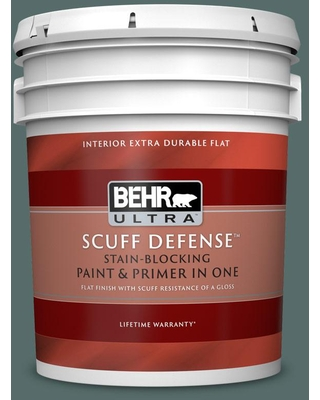 BEHR ULTRA 5 gal. #490F-6 Agave Frond Extra Durable Flat Interior Paint & Primer