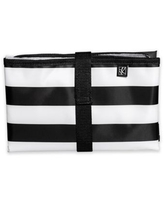 J.L. Childress Striped Full Body Changing Pad in Black/White