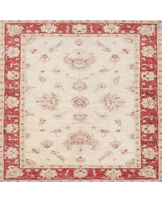 Bloomsbury Market Orr Traditional Beige/Red Area Rug X112033938 Rug Size: Square 4'