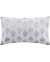 "INK+IVY Nadia Dot 12x18"" Metallic Silver Embroidery Oblong Pillow in Silver - Olliix II30-211"