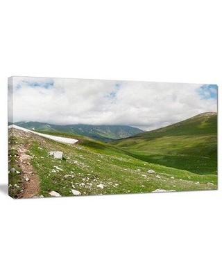 "Design Art 'North Caucasus Green Mountains' Photographic Print on Wrapped Canvas PT15268- Size: 16"" H x 32"" W x 1"" D"